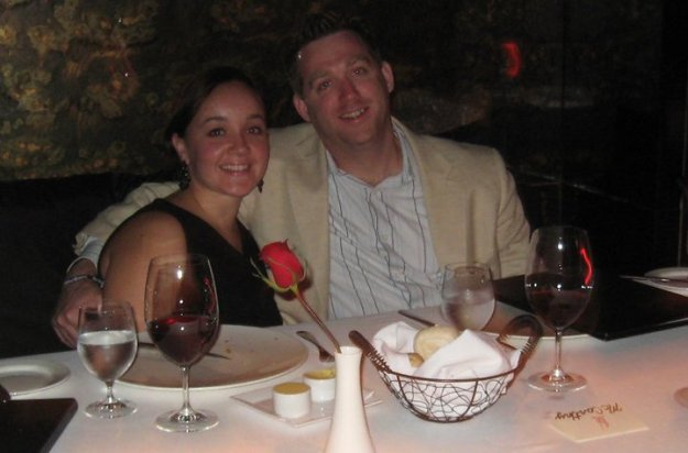 Sipping some wine with the hubby in Cancun in 2010