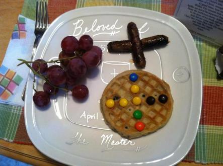 Her breakfast