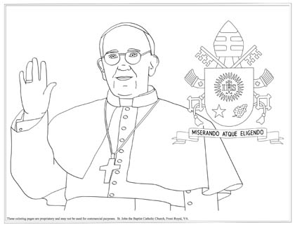 Pope coloring page!