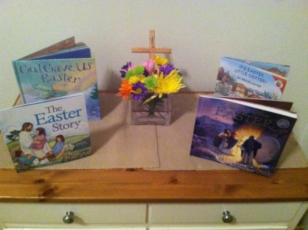 Easter book display