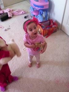 destroying her siblings room....