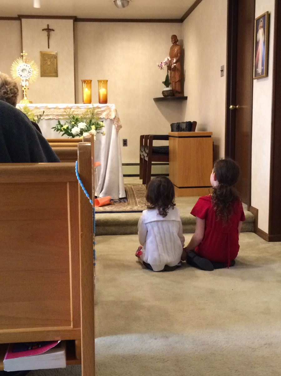 5 kids......weekly Adoration...7 quick tips to make it possible.....