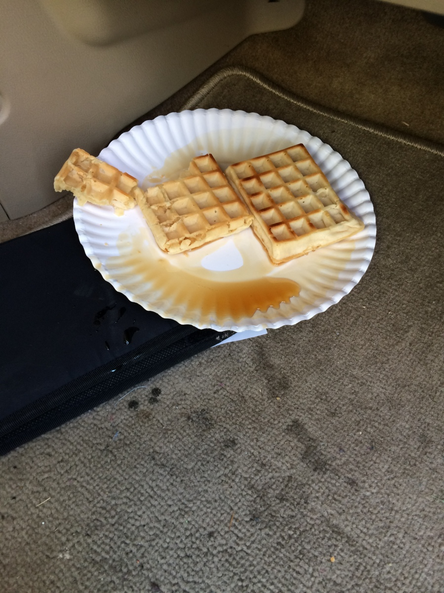 Brought to my knees by a plate of waffles....