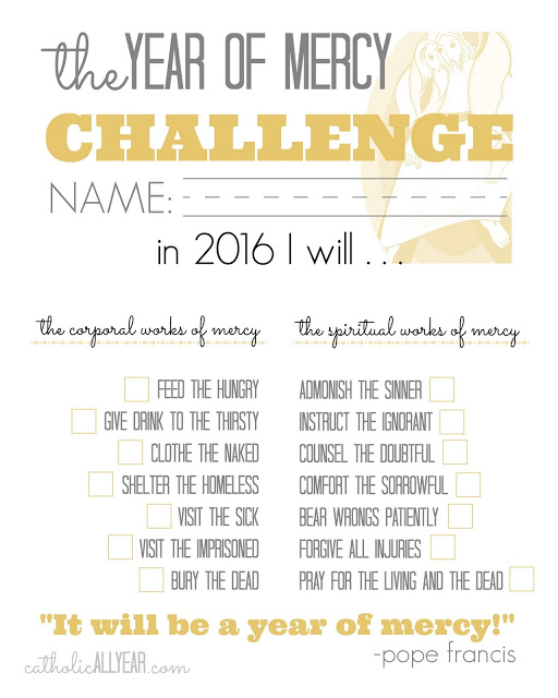 Year of Mercy challenge worksheet