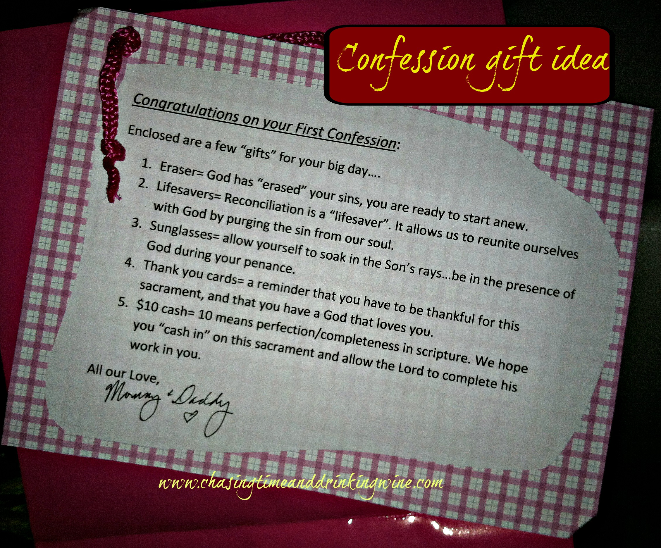 first confession gift