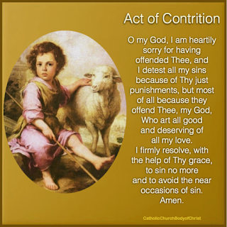 first penance act of contrition